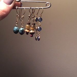 Jewelry - Dangle beaded and glass earrings